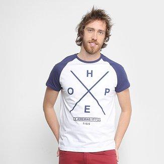 ecf24be708 Camiseta Estampada Jeremias Tigs Manga Raglan Masculina