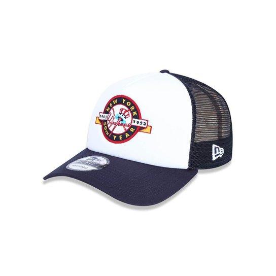d91c93f33dcaa Bone 940 New York Yankees MLB New Era - Branco e Marinho - Compre ...