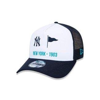 6f030e66151e5 Boné 940 New York Yankees MLB Aba Curva Snapback New Era