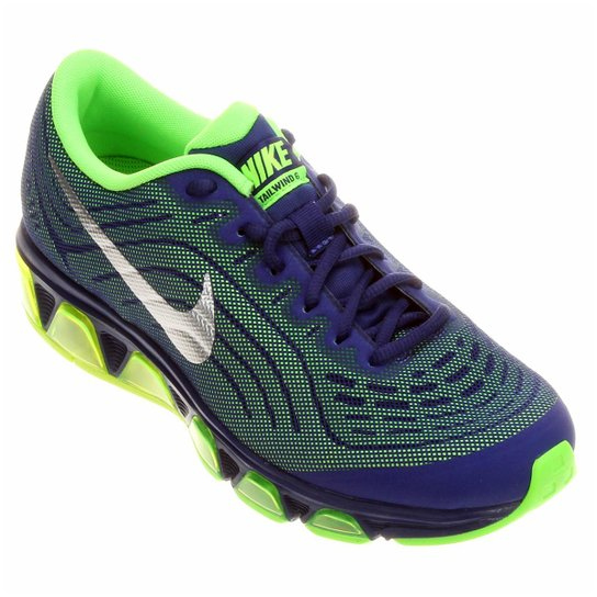3b5eae2267e Tênis Nike Air Max Tailwind 6 Masculino - Azul+Verde Limão