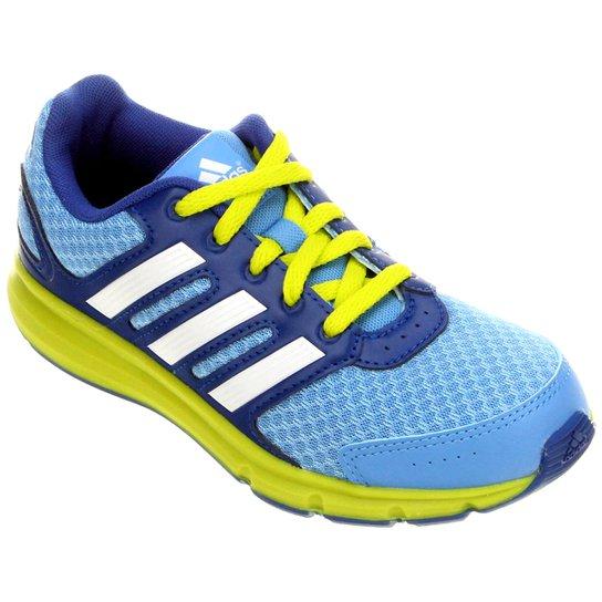 3e653b5327a Tênis Adidas LK Sport Juvenil - Azul+Verde Limão