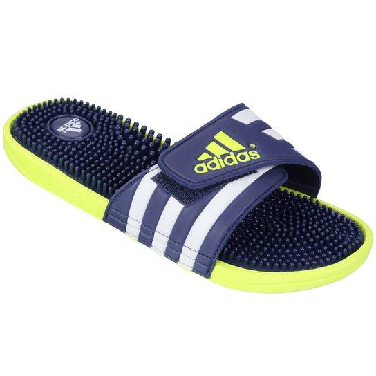 6e5547afd Chinelo Adidas Adissage - Azul e Verde Limão | Netshoes