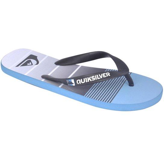 Chinelo Quiksilver Molokai Division - Cinza+Azul Claro 7285daccb4d94