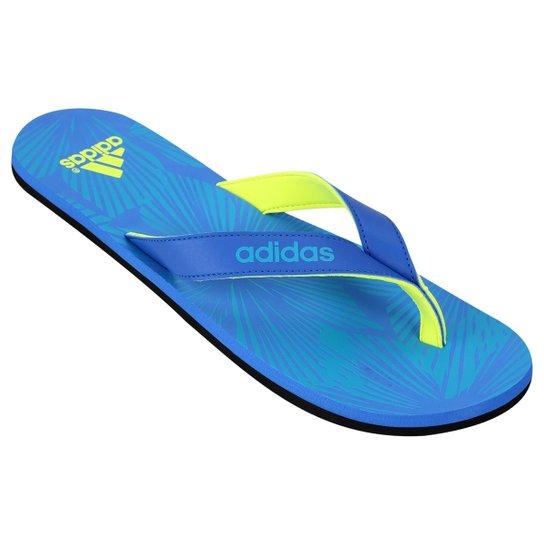 Chinelo Adidas Eezay - Azul e Verde Limão - Compre Agora  aa22b4eac774d