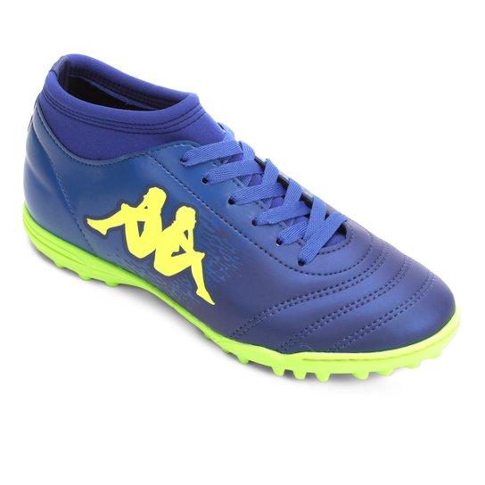 a9447a8c11 Chuteira Society Kappa Agility - Azul e Verde Limão - Compre Agora ...