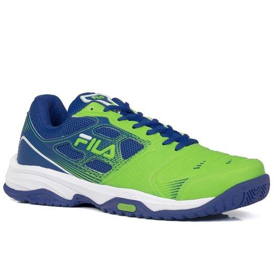 Tênis Fila Top Spin 2.0 Preto Cinza e Verde Limão - Compre Agora ... a77c33ab114df