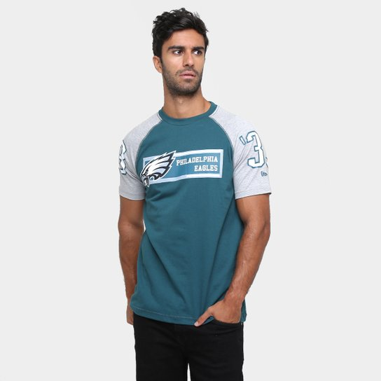 Camiseta New Era NFL Raglan Rec Philadelphia Eagles - Compre Agora ... 20117a17b314f