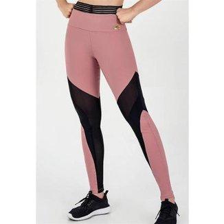 8e9fc3fab Legging Alto Giro Light Plus Recortes Em Tule Feminina