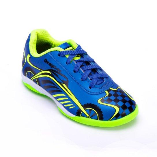 326ab11f7b Tênis Futsal Drayzinho Infantil 156CO - Azul e Verde Limão - Compre ...