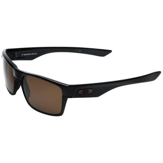 adc74d4db Óculos Oakley Twoface - Preto+Marrom