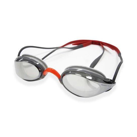 69f03896c Óculos de Natação Aquatech Mirror Hammerhead - Prata+Vermelho