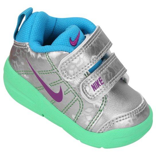 5c57aca361a1a Tênis Infantil Nike Pico Lt - Prata e Verde   Netshoes