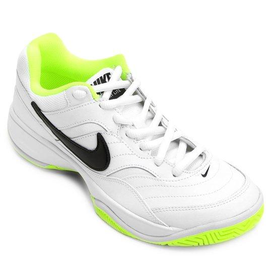 ced6aacba7e Tênis Nike Court Lite Masculino - Branco e Verde Limão - Compre ...