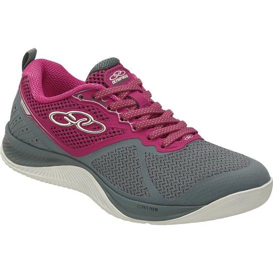 7e96f902575 Tênis Olympikus Burpee Feminino - Cinza e Rosa - Compre Agora