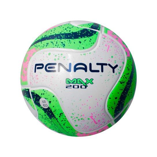 0a0006403e6ae Bola Futsal Penalty Max 200 Termotec Infantil - Branco+Verde Claro