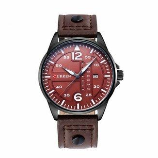 4134fb49c7e Relógio Curren Analógico 8224 Preto e Vinho