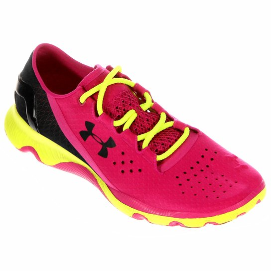 ec467e8598d Tênis Under Armour Speedform Apollo RN Feminino - Verde Limão+Pink ...