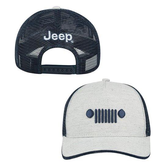 Boné Jeep Trucker Grade - Compre Agora  efceb0a1697