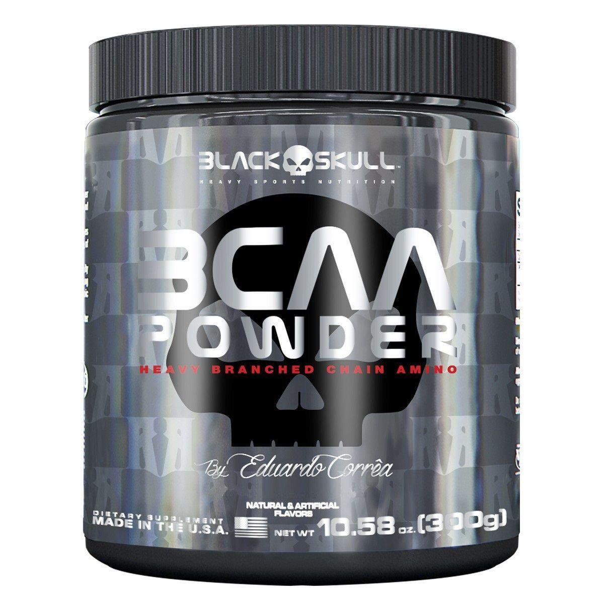 3d650448c BCAA Powder 300 g By Eduardo Corrêa - Black Skull