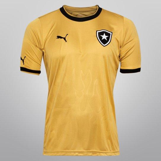 Camisa Botafogo s nº - Ed. Especial Torcedor Puma Masculina - Dourado+Preto a8b18617111cc