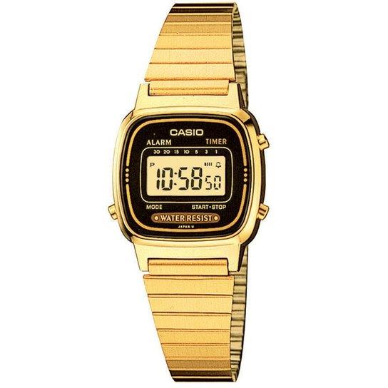5d6d5af4591 Relógio Casio Feminino Vintage La670Wga-1Df - Dourado e Preto ...