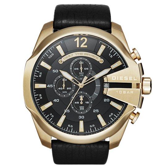 6111f8c1ce2 Relógio Diesel Analógico Only The Brave - Dourado e Preto - Compre ...