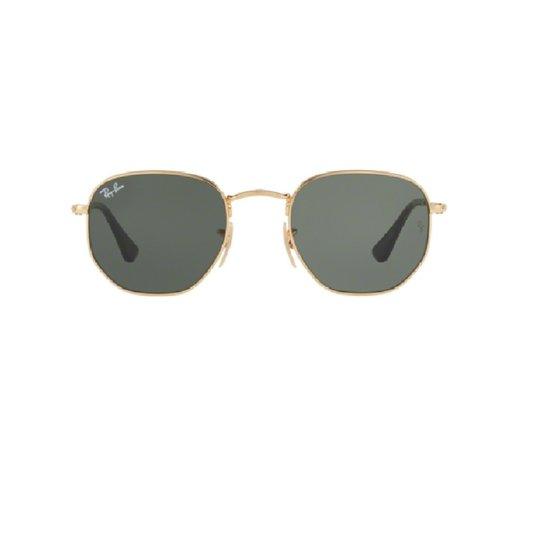 8e71bf518 Óculos de Sol Ray Ban Hexagonal RB 3548NL 001 - Dourado e Preto ...