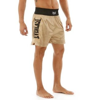 Shorts De Muay Thai Com Bordado Lateral