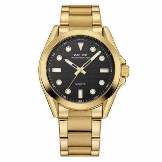 908ec416e83 Relógio Weide Analógico WH802 Dourado e Preto