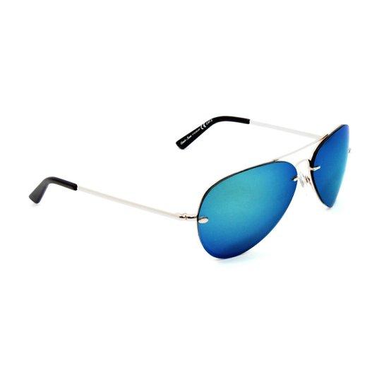 Óculos Bijoulux de Sol Aviador Espelhado Escuro - Compre Agora ... f1195f447f