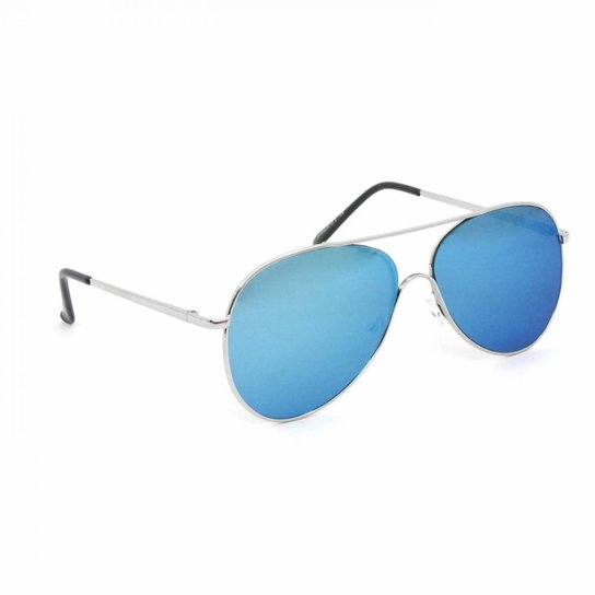 8bbb61273 Óculos de Sol Aviador - Prata+Azul
