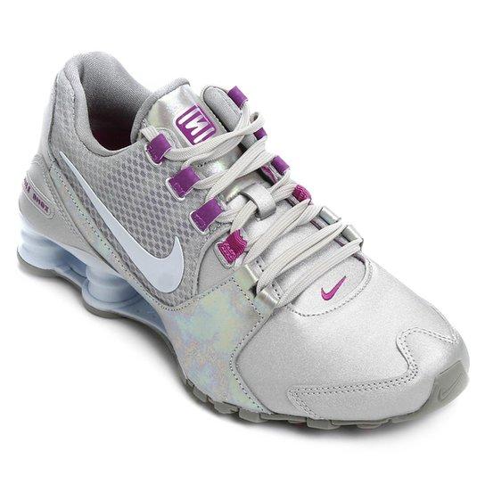 ac5ba079ae Tênis Nike Shox Avenue Se Feminino - Prata+Lilás