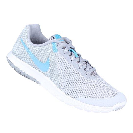 c8330acf9e Tênis Nike Flex Experience Rn 6 Feminino - Prata e Azul - Compre ...