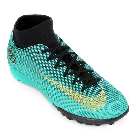 Chuteira Society Nike Mercurial Superfly 6 Academy CR7 TF Masculina - Verde  água 129a59b7bc5f7