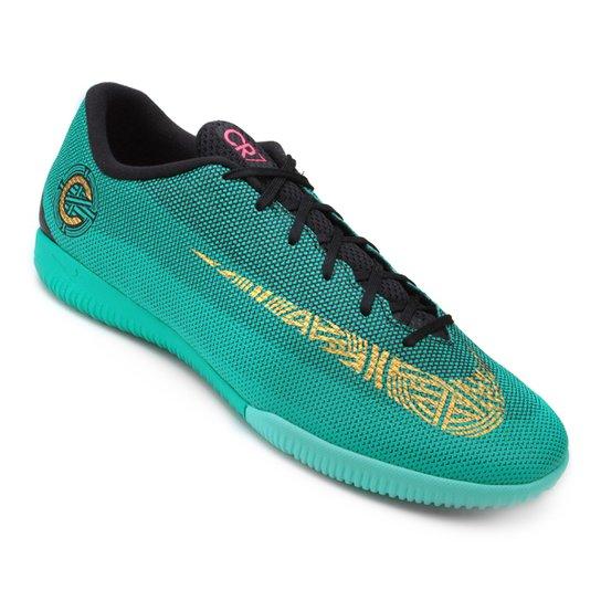 Chuteira Futsal Nike Mercurial Vapor 12 Academy CR7 IC - Verde água ... 59891743a7064