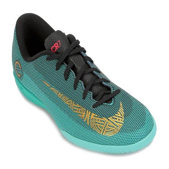 78911d1549328 Chuteira Futsal Infantil Nike Mercurial Vapor 12 Academy GS CR7 IC - Verde  água ...