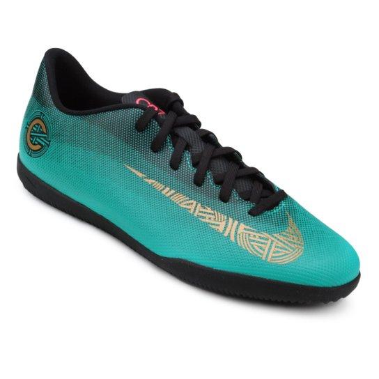3f57fa5025 Chuteira Futsal Nike Mercurial Vapor 12 Club CR7 IC - Verde água