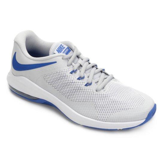 c87778ec09bf2 Tênis Nike Air Max Alpha Trainer Masculino - Prata e Azul - Compre ...
