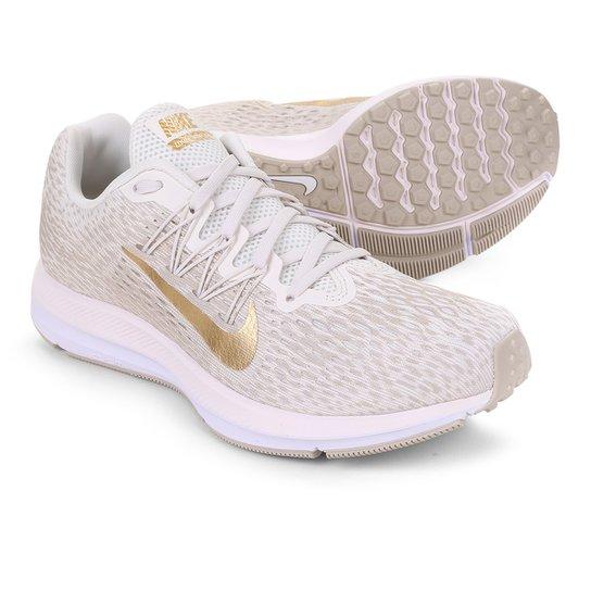 a7d256e16b Tênis Nike WMNS Zoom Winflo 5 Feminino - Bege e Dourado | Netshoes