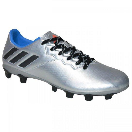 4f8b3b3cc0 Chuteira Adidas Messi 16.4 FXG Campo - Prata e Azul - Compre Agora ...