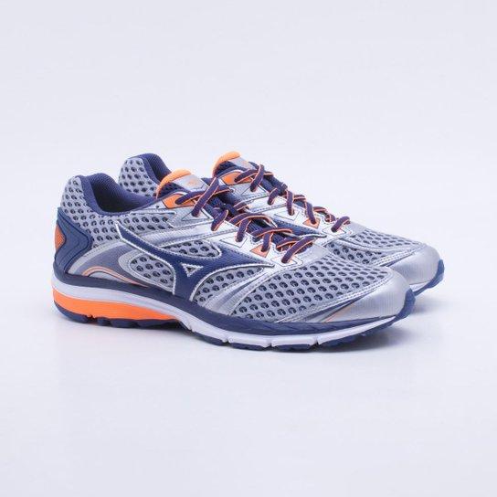 5242504574 Tênis Mizuno Iron 2 Masculino - Prata e Azul - Compre Agora