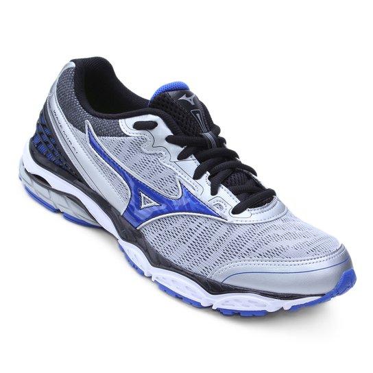 46f0afb9e84 Tênis Mizuno Wave Mirai Masculino - Prata e Azul - Compre Agora ...
