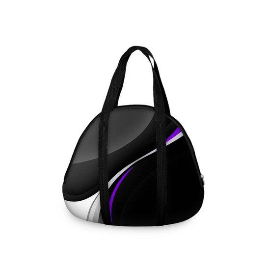 26ad0fd38 Bolsa Concha Fitness sem Bolso Simple Purple Wave - Preto e Roxo ...