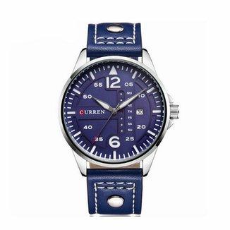 ee188551d7f Relógio Curren Analógico 8224 Prata e Azul