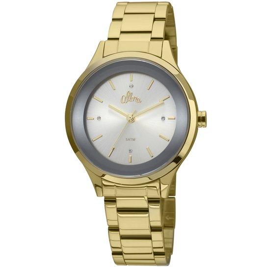 ea73c79461286 Relógio Allora Segredos do oriente - Dourado e Preto - Compre Agora ...