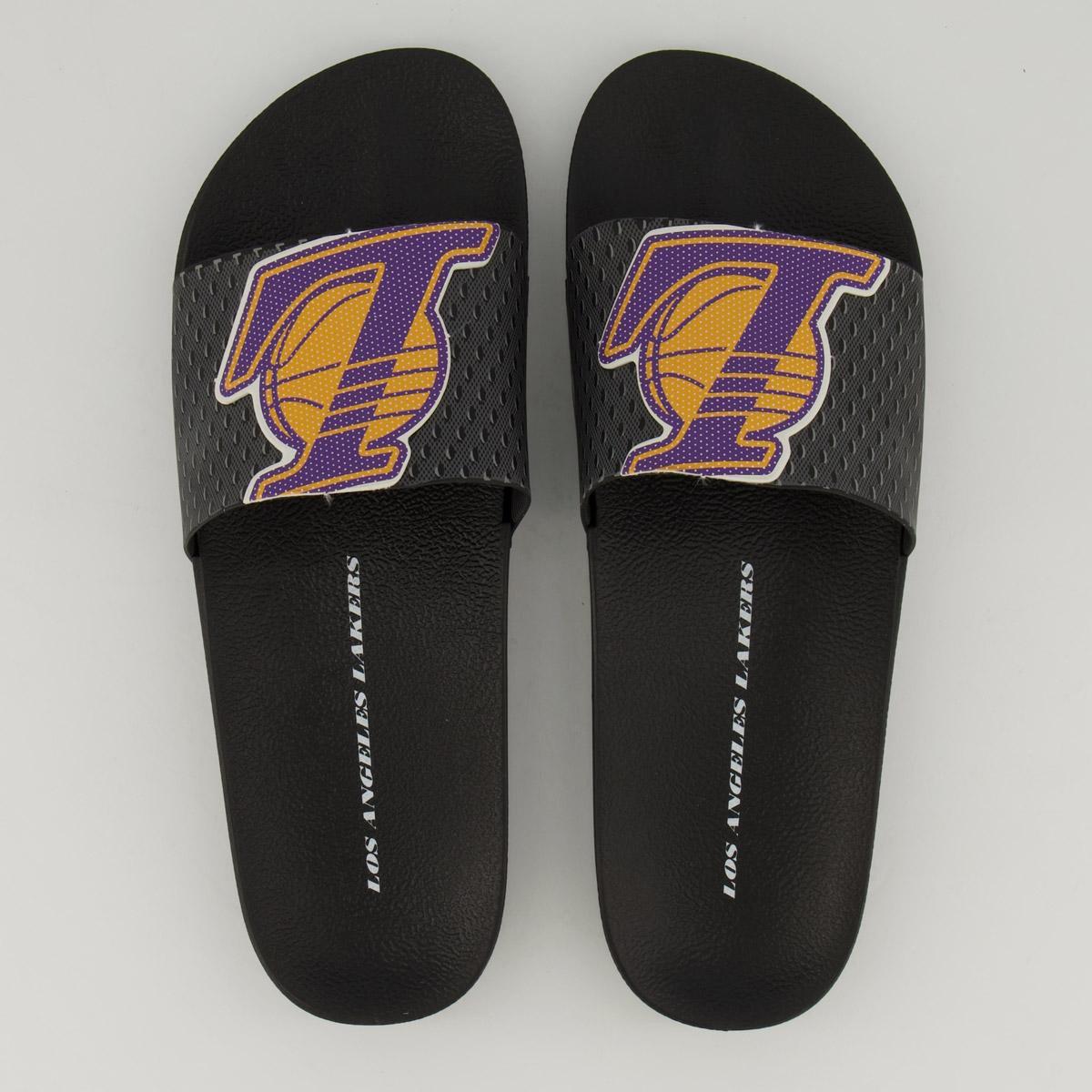 Chinelo Slide NBA Los Angeles Lakers Rider Full 86 Masculino
