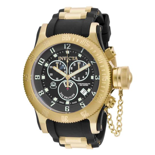 31db978b8ee Relógio Invicta Analógico Russian Diver - 15562 Masculino - Dourado+Preto