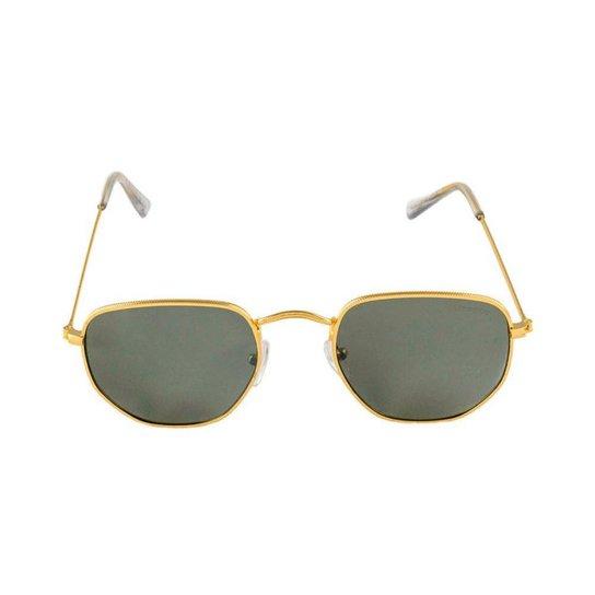 a3e345c9a Óculos de Sol Khatto Fusion Round Masculino - Dourado e Preto   Netshoes