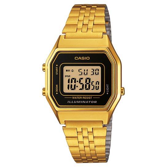 3a5ad00056d Relógio Casio Vintage - Dourado e Preto - Compre Agora