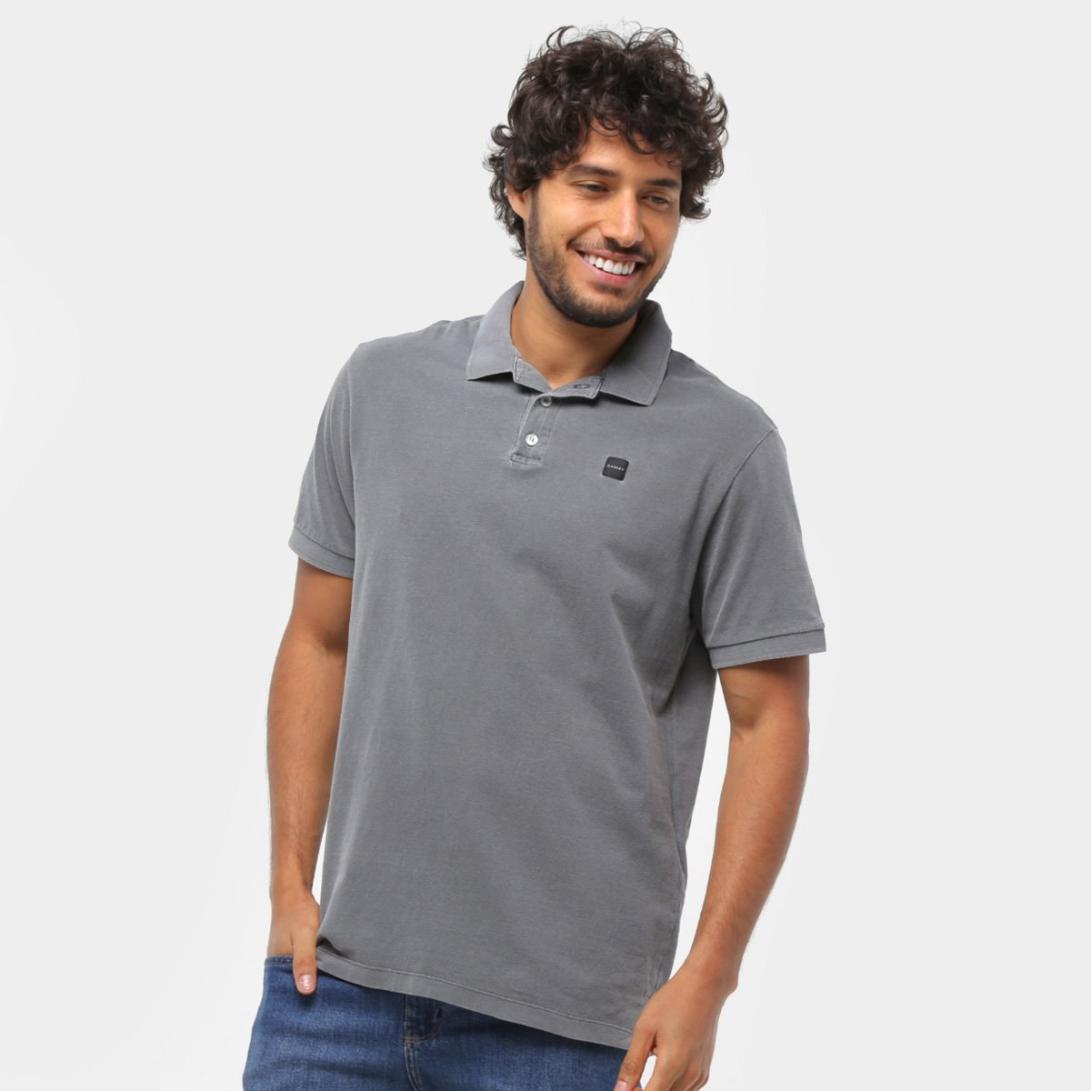 Camisa Polo Factory Washed Masculina